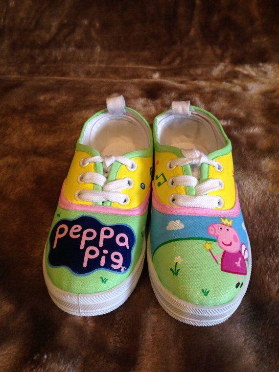 Peppa Pig Handpainted Shoes   Little