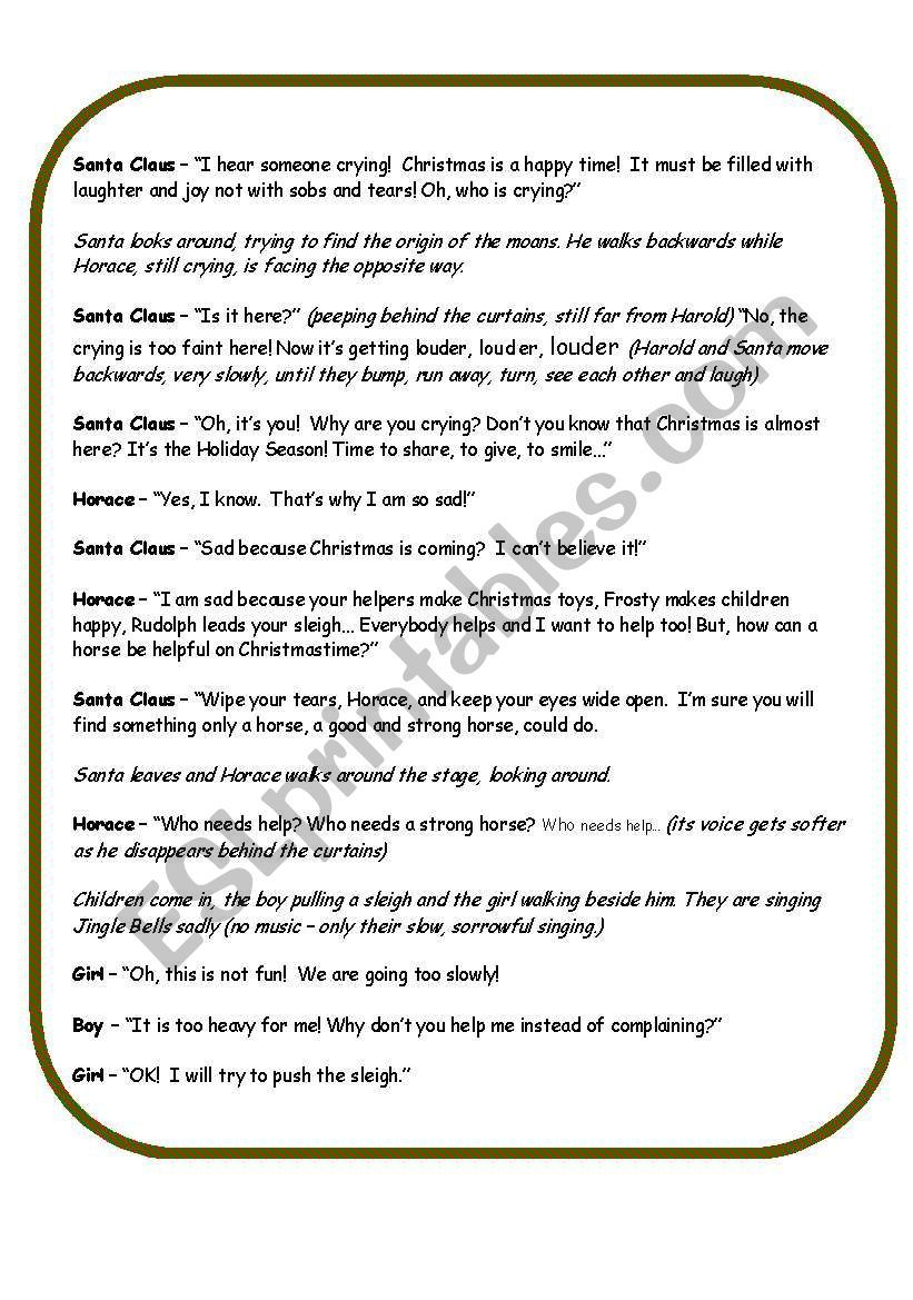 A Christmas Play Worksheet Christmas Play Christmas Play Scripts Vocabulary Worksheets [ 1169 x 821 Pixel ]