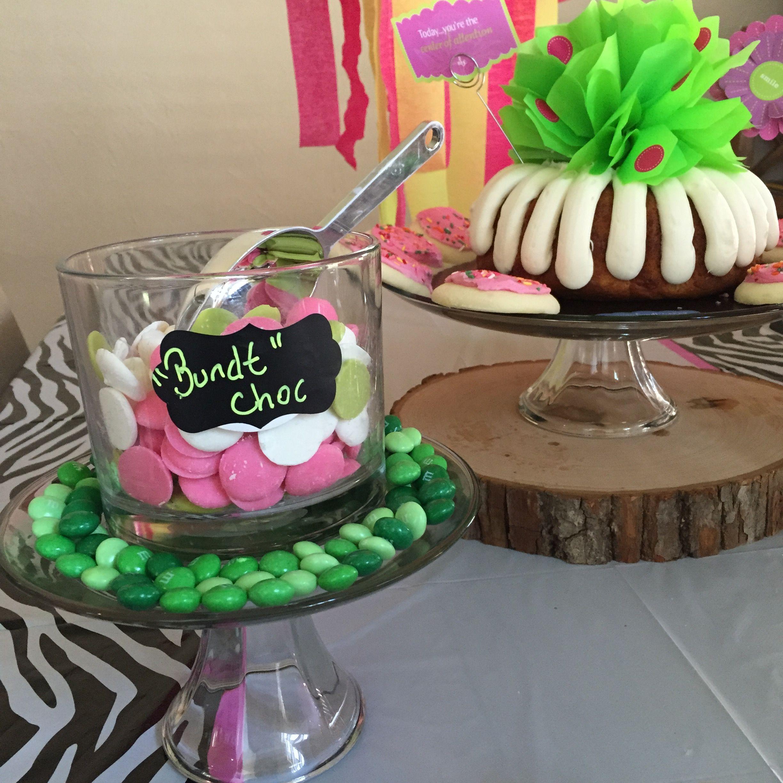Nothing bundt cake themed birthday party birthday