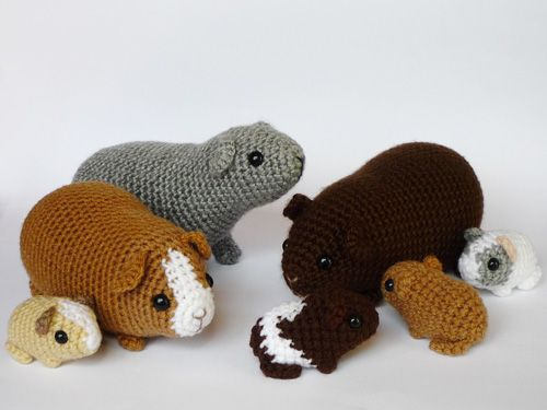 Amigurumi Guinea Pig : Guinea pig family by lunascrafts on deviantart i need to make