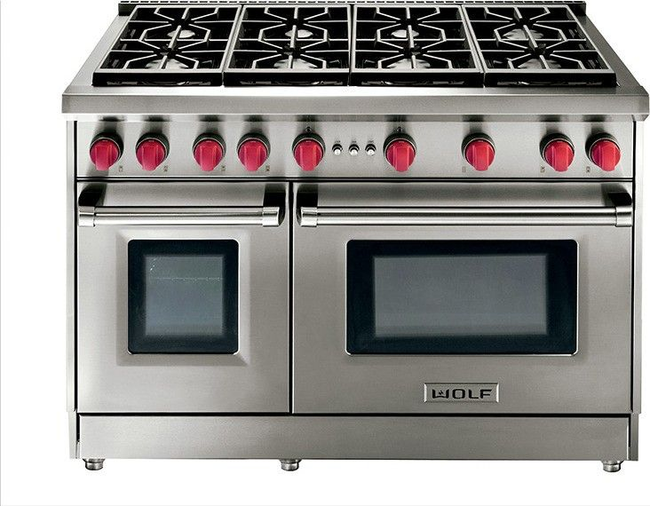Wolf Gr488 48 Quot Gas Range 8 Burners Kitchen Appliances Kitchen Remodel Stove With Griddle