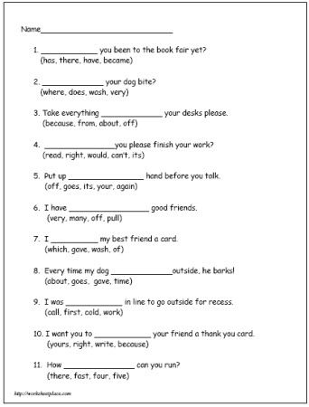 Second Grade Reading Worksheet 5 Dolch With Images Reading