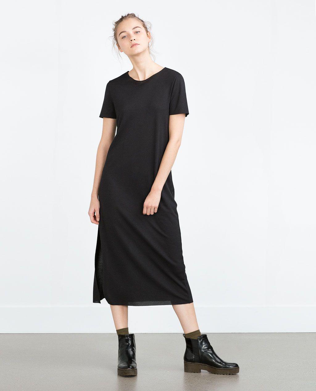 9ee546e7 T Shirt Maxi Dress Zara - raveitsafe