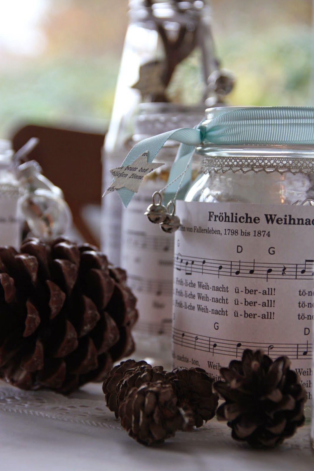 Weihnachtsgläser - Windlichter - Weihnachtslieder #weckgläserdekorieren