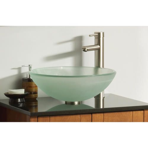 Magick Woods Frosted Glass Vessel Sink at Menards. Magick Woods 16 1 2  Frosted Glass Vessel Sink    73   Bathroom