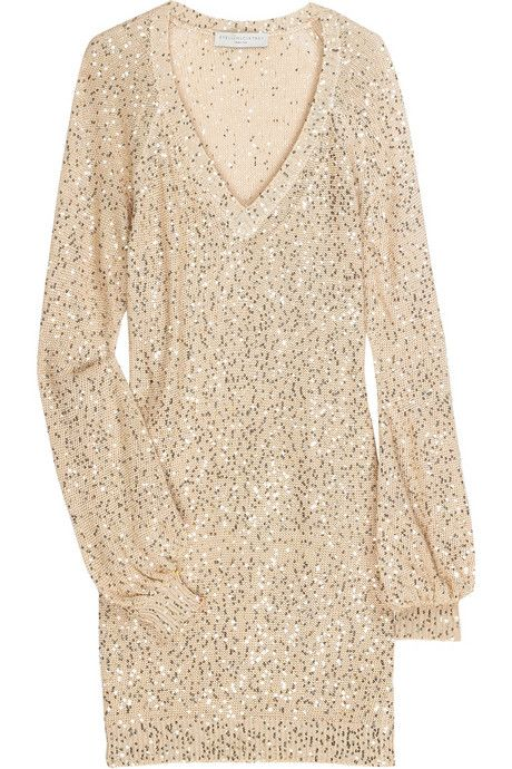 820becf2d8 Stella McCartney s silver sequined sweater dress
