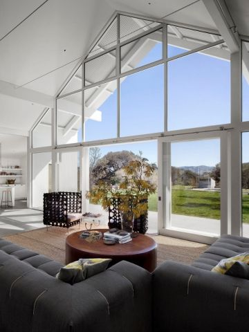 Une maison totalement intégrée à l'environnement extérieur