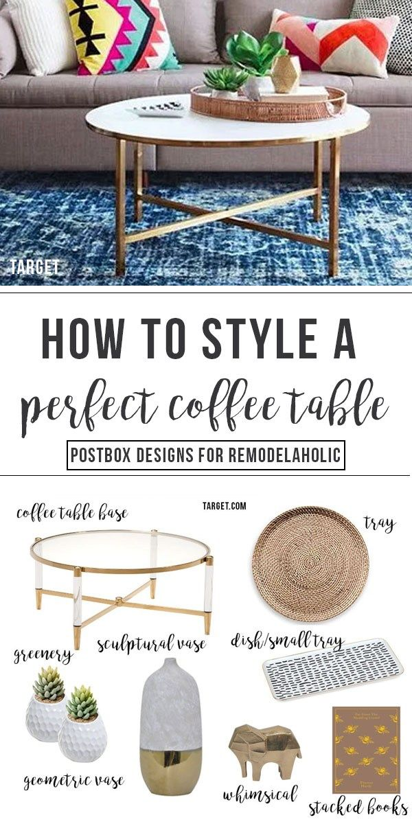 How To Style The Perfect Coffee Table With Just 6 Steps By Postbox Designs E Design Target Coffee Table Decor Tray Vase