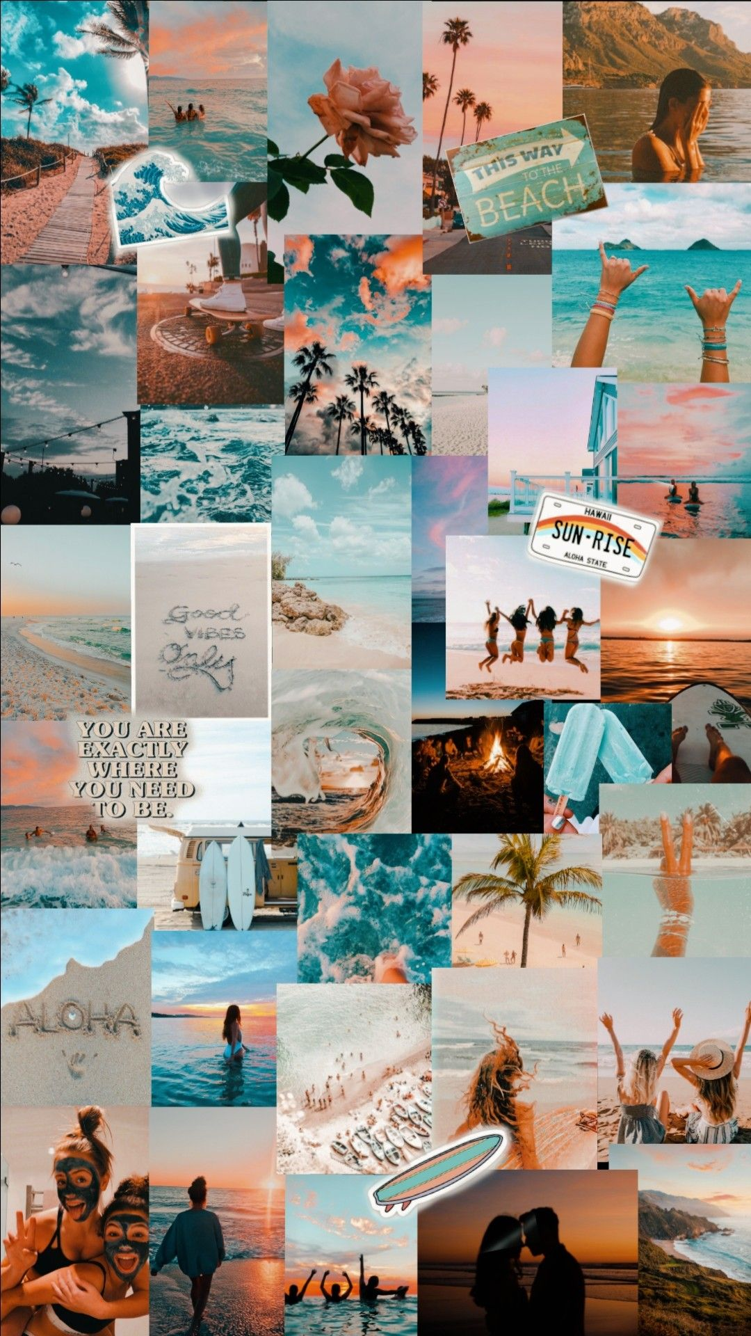 Summer Vibes Collage Background Aesthetic Collage Aesthetic Wallpapers
