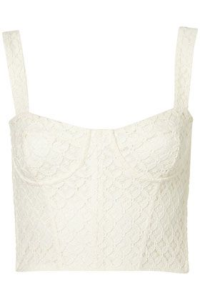 Lace Corset Style Crop Top - Bralets
