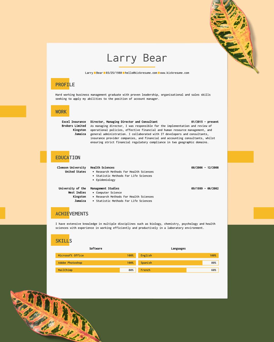 Sales skills image by Kickresume resume builder on