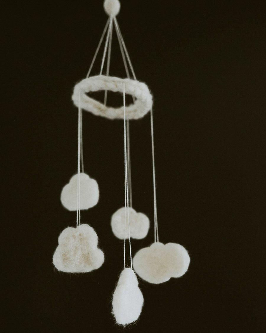 nursery reveal - adorable cloud mobile
