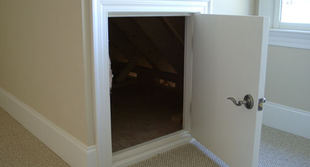 Lovely Small Attic Door