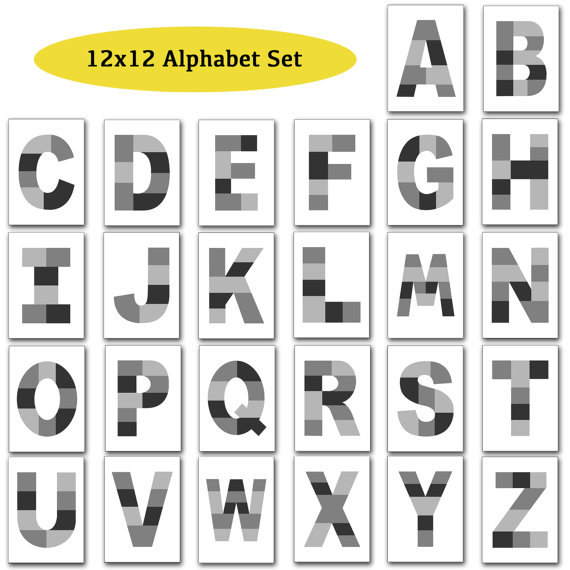 12x12 Photo Template Pack Alphabet Template Pack Letter Templates Photo Collage Templates Instant Do Collage Template Photo Template Photo Collage Template