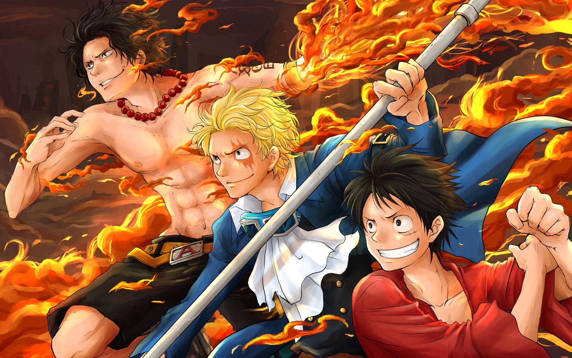 Anime One Piece Sabo Monkey D. Luffy Portgas D. Ace