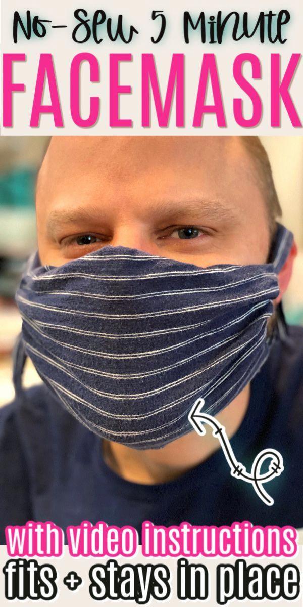 diy face mask crochet pattern in 2020 Easy face masks