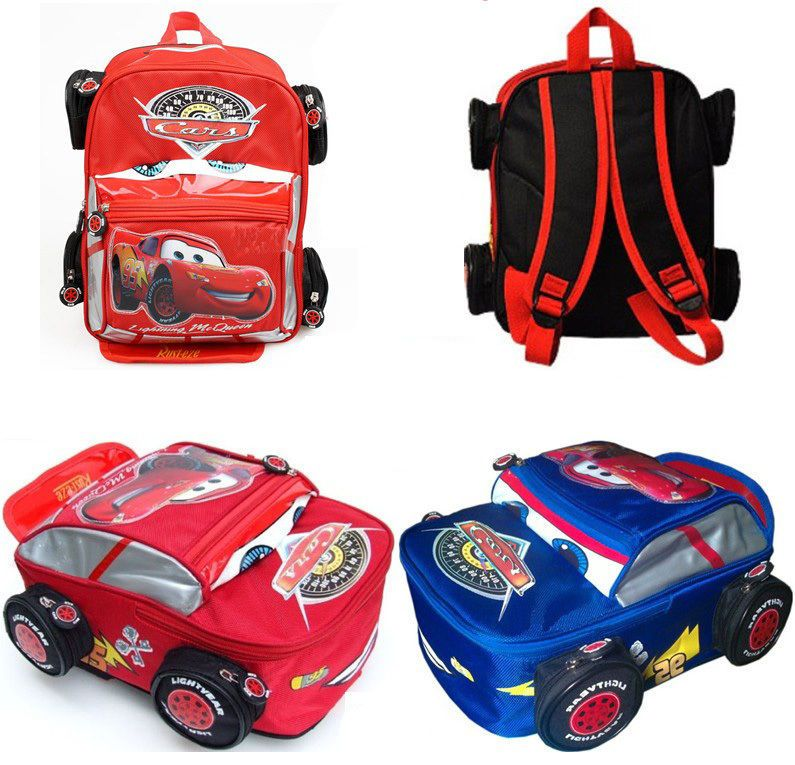 df983d02821 Disney Pixar Car Lightning McQueen Backpack Shoulder School Bag Baby Kid  Toddler