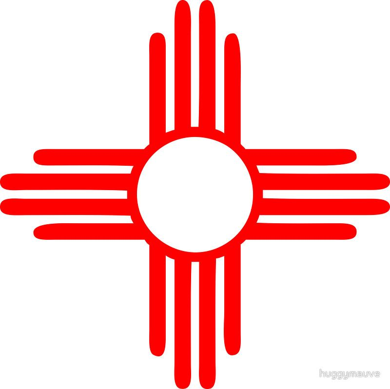 New Mexico Sun Zia Indian Symbol Silhouette Crafts Pinterest