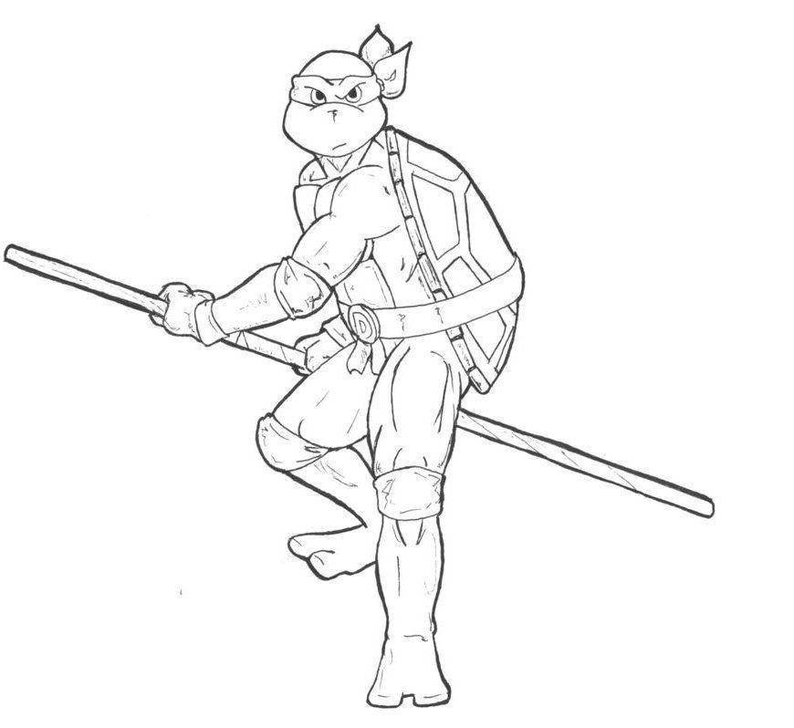 Donatello The Ninja Turtles Coloring