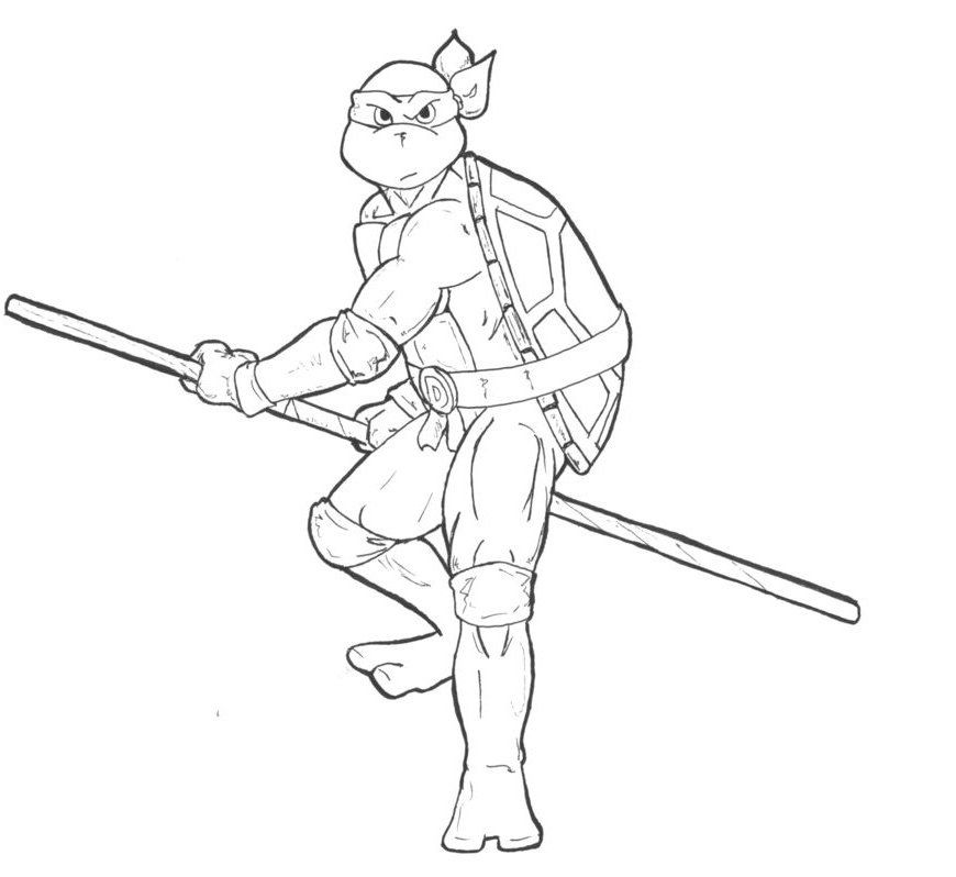 Donatello The Ninja Turtles Coloring Pages Ninja Turtle Coloring