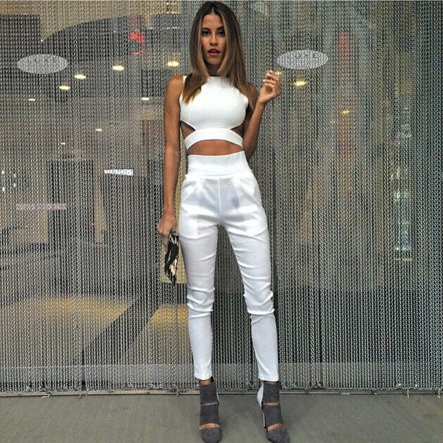 What a babe!! @n.a.i.l.a  in our back it up pants $69.95 & go all night crop $49.95 both available for purchase at www.tigermist.com.au