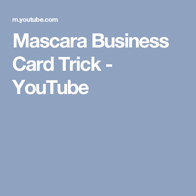 Mascara business card trick youtube beauty tips pinterest mascara business card trick youtube colourmoves Images