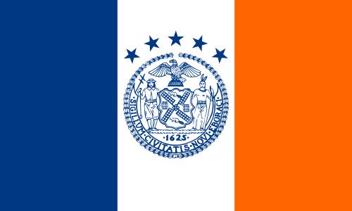FLAG  OF THE NEW YORK CITY (NY)