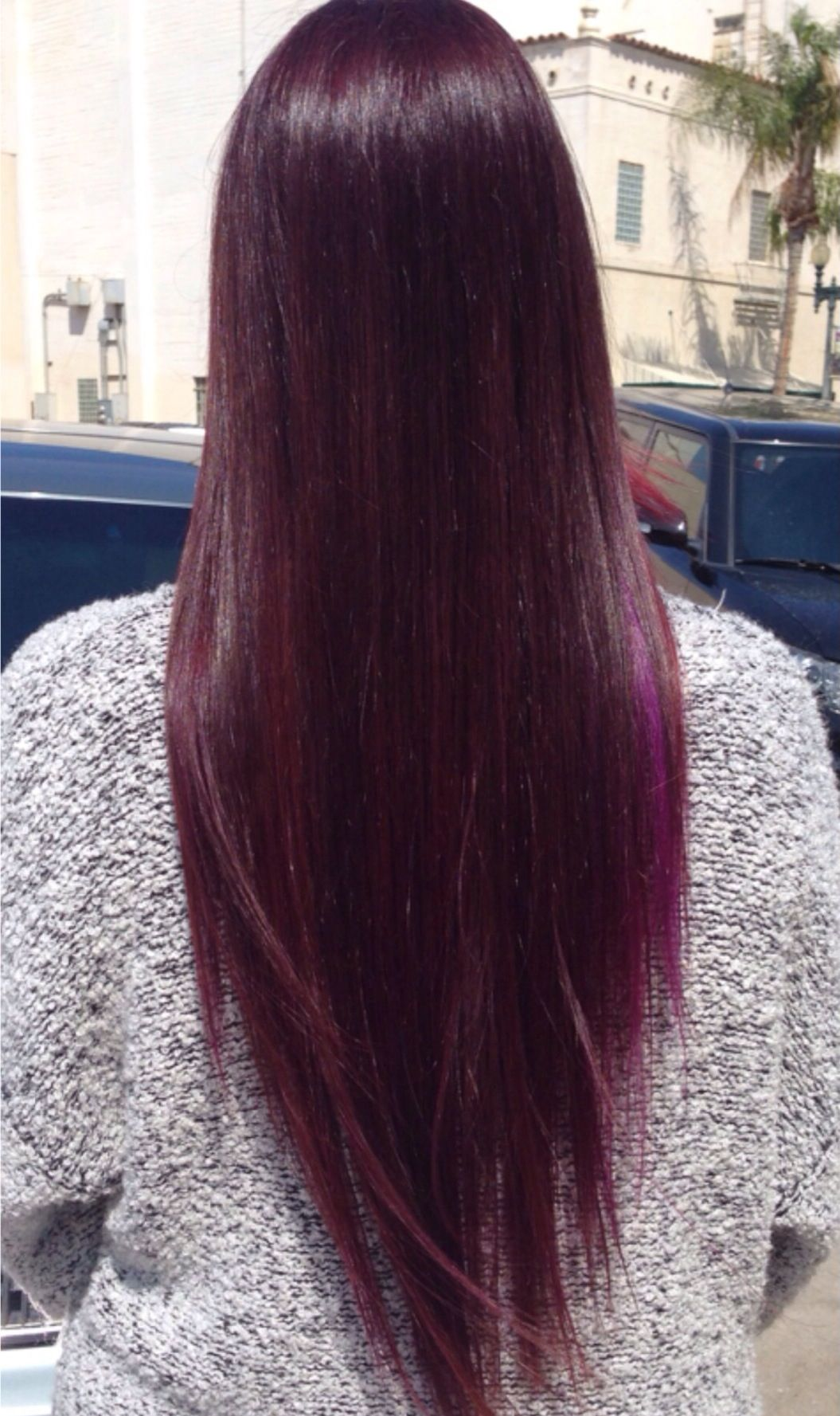 Dark violet hair using only joicous fv wild orchid fingers and
