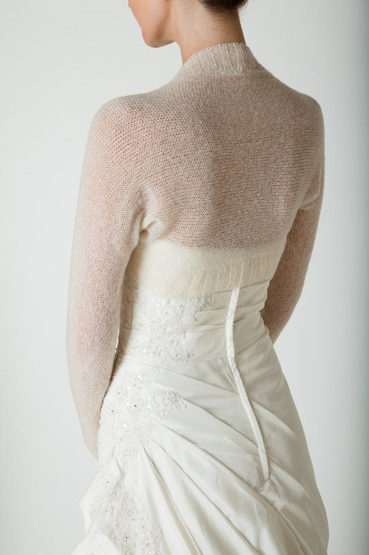 Wedding Bolero knitted with only two seams the perfect match for ...