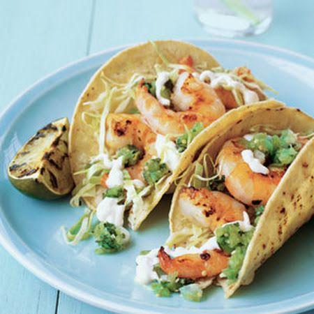 Delicious Grilled Shrimp Tacos for a #delicious #Summer dinner!  #shrimp #tacos #grilled