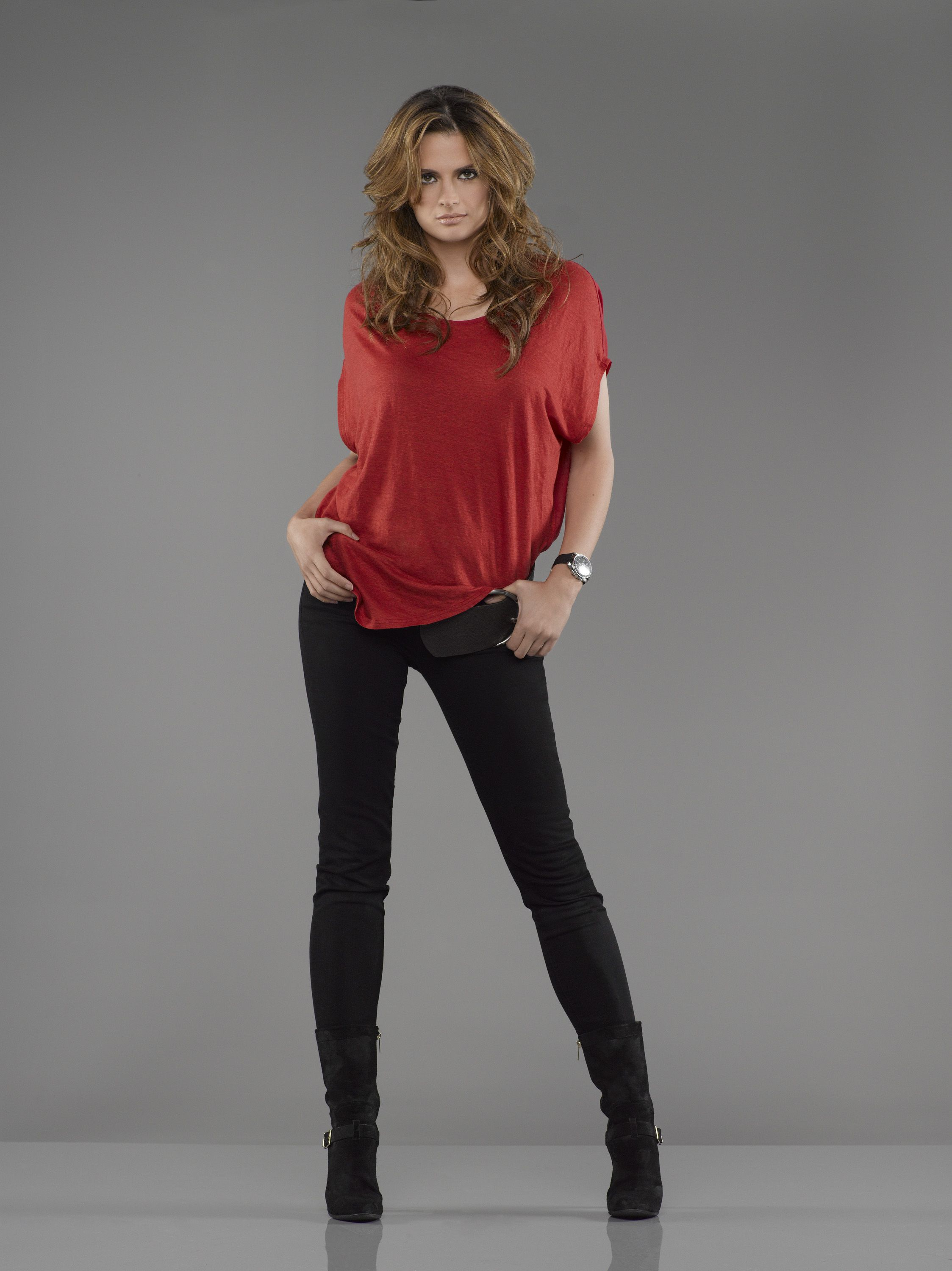 Stana Katic-I kind of want to use her as a model for my main character.