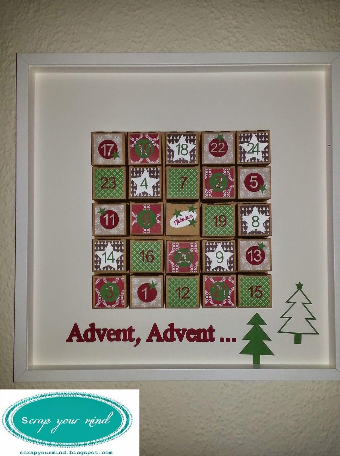 stampin\'Up! Adventskalender im Ribba Rahmen, Weihnachten ...