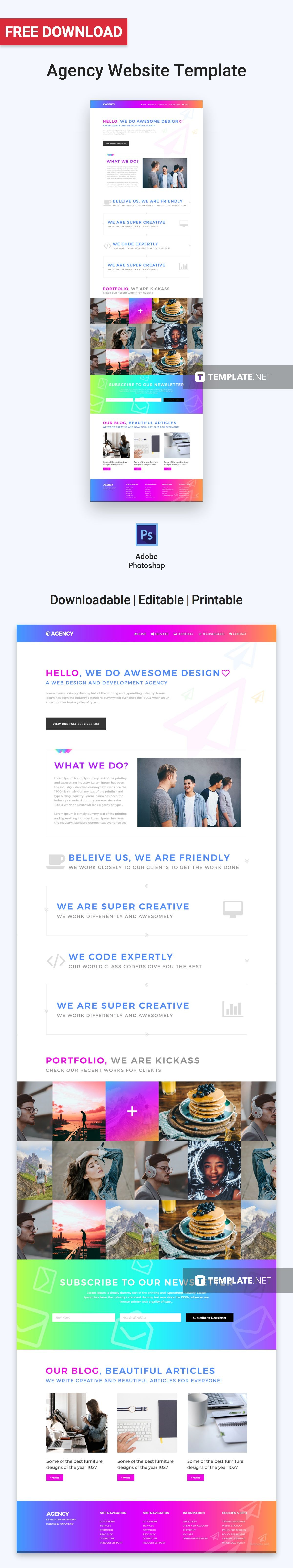 Get this free website template with a clean and vibrant ...