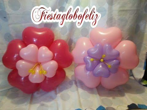 Como Hacer Un Arco Con Flores De Globos De Corazon Youtube - Como-hacer-flores-de-globos