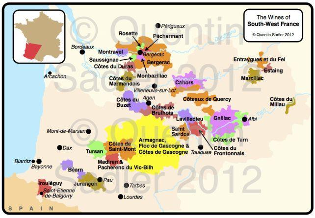 QS South West France watermark Regiones Vitivinicolas ( Wine - chambre d agriculture du loir et cher