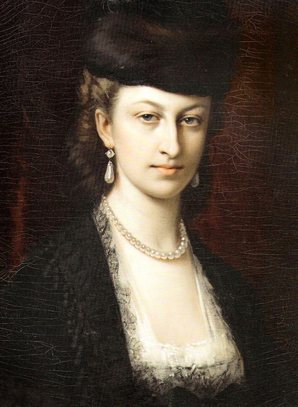 Portrait of Róża Maria Augusta Tarnowska (Polish noblewoman,1854-1942) by Leopold Gasser
