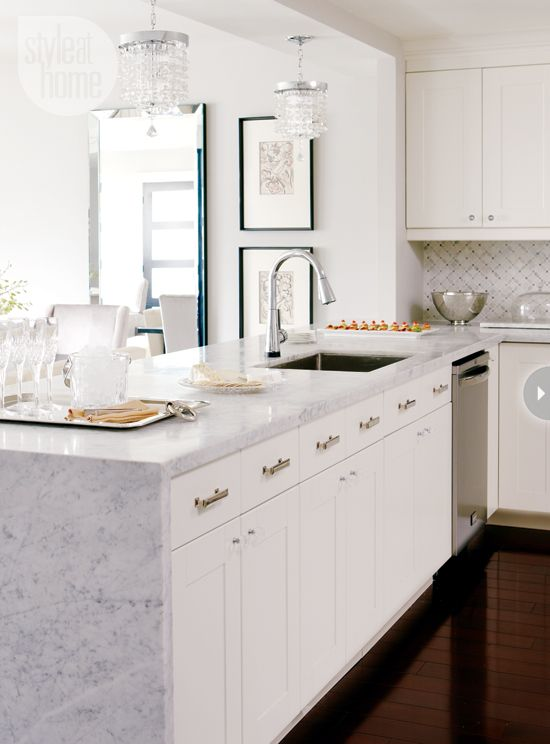 interior: modern glam condo | marble countertops, marbles and