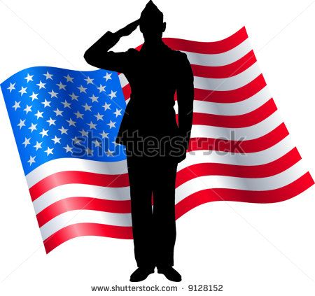 Soldier Salute Silhouette Google Search American Flag Clip Art Soldier Silhouette Flag