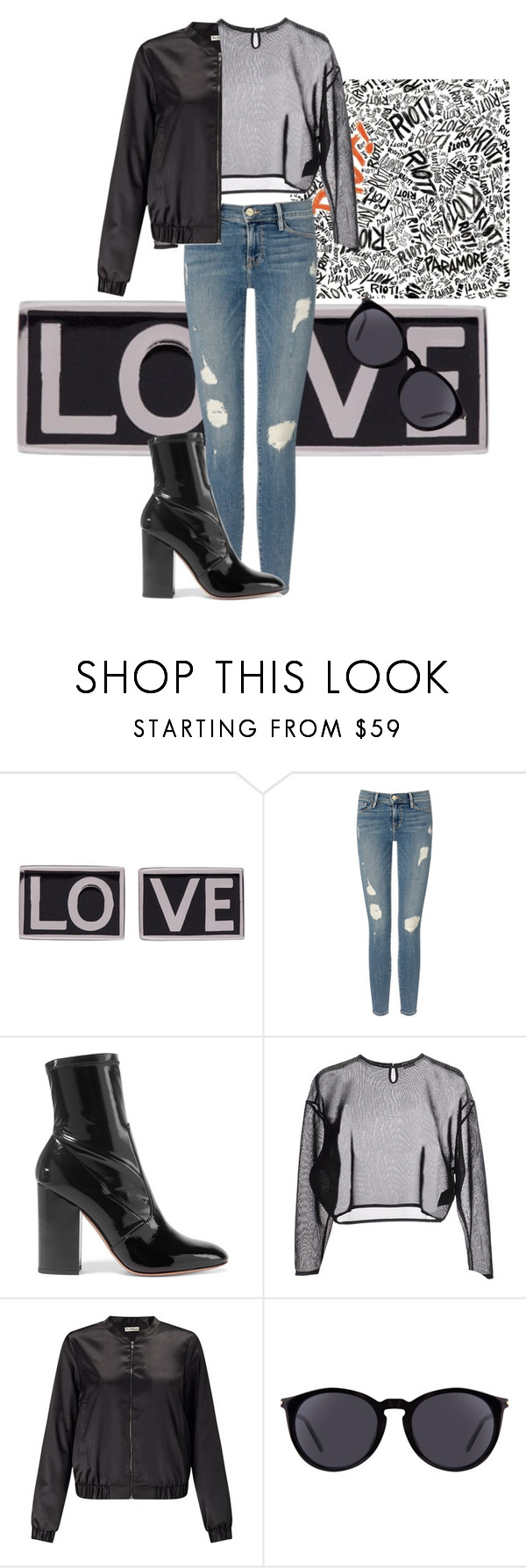 """Untitled #694"" by polyvoresets12 ❤ liked on Polyvore featuring Givenchy, Frame Denim, Valentino, Yves Saint Laurent and Miss Selfridge"