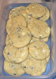 """2 boxes Jiffy Blueberry Muffin mix   4 oz. cream cheese   1 stick """"I Can't Believe It's Not Butter""""   ½ C. light brown s..."""