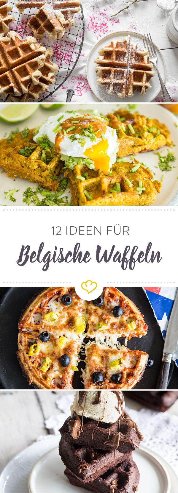 12 knusprige rezeptideen f r belgische waffeln fr hst ck breakfast pinterest waffeln. Black Bedroom Furniture Sets. Home Design Ideas
