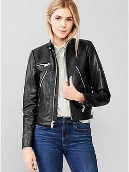 f515b44ac cool zippers and big zipper pulls! Leather moto jacket   Women's ...