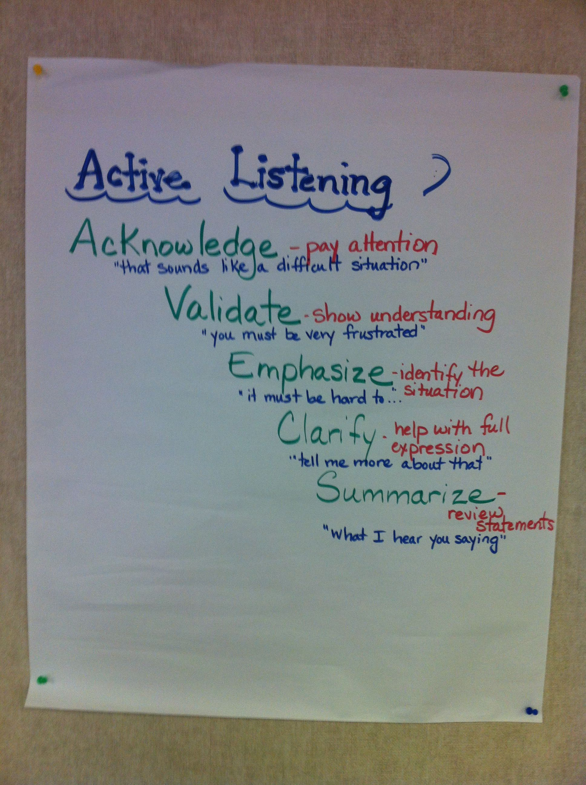 The process of active listening by all the team members during an IEP.