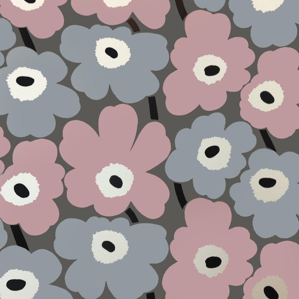 marimekko pieni unikko wallpaper v riyhdistelmi pinterest marimekko wallpaper and patterns. Black Bedroom Furniture Sets. Home Design Ideas