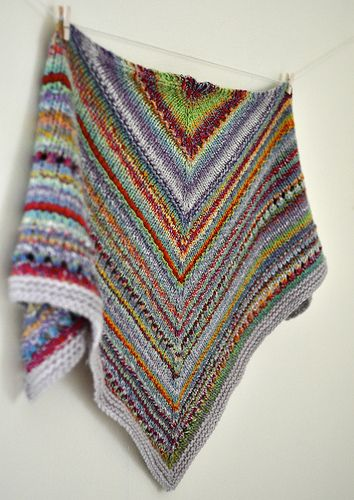 Ravelry: treefroggin\'s Some of This and That Kerchief | Knitting ...