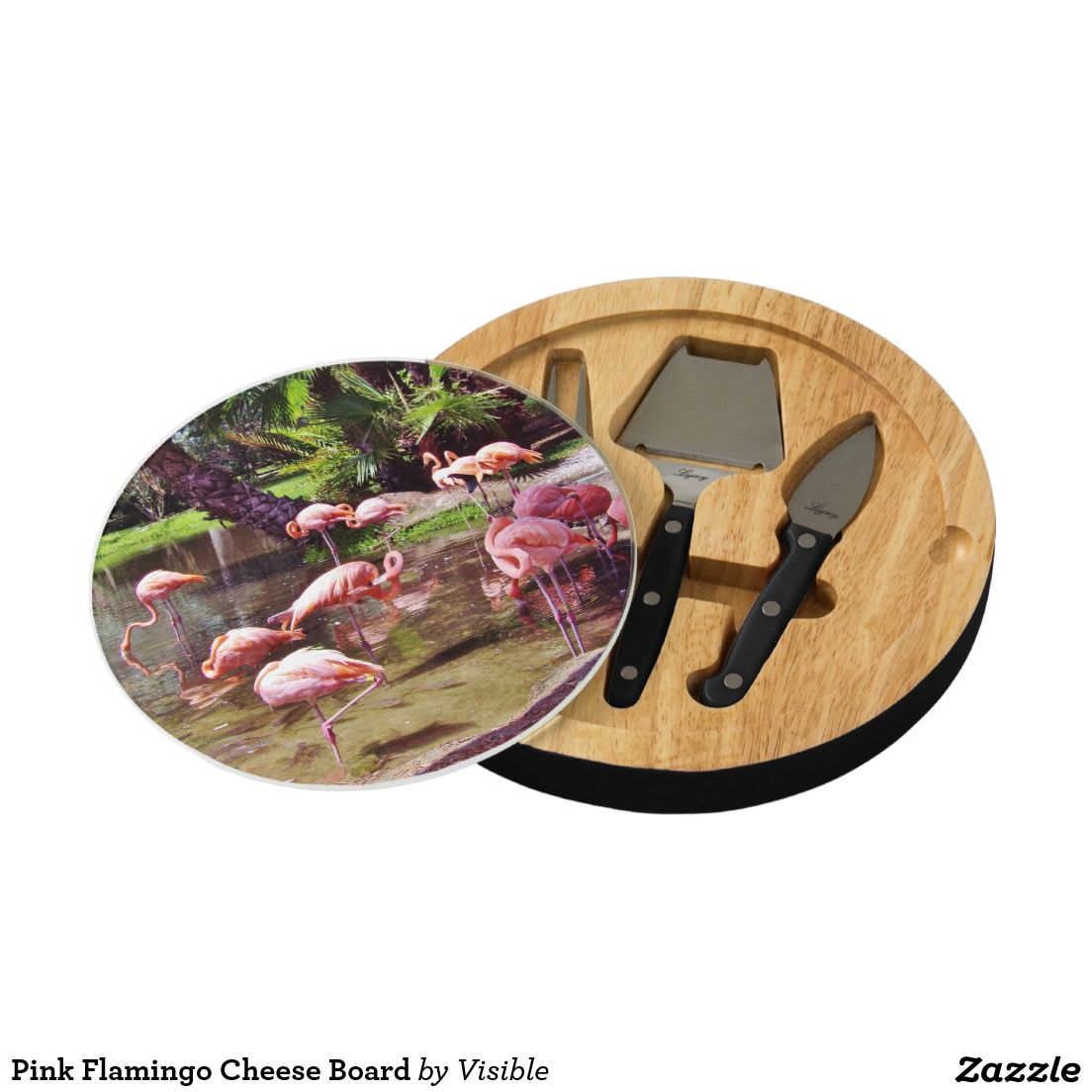 Pink Flamingo Cheese Board