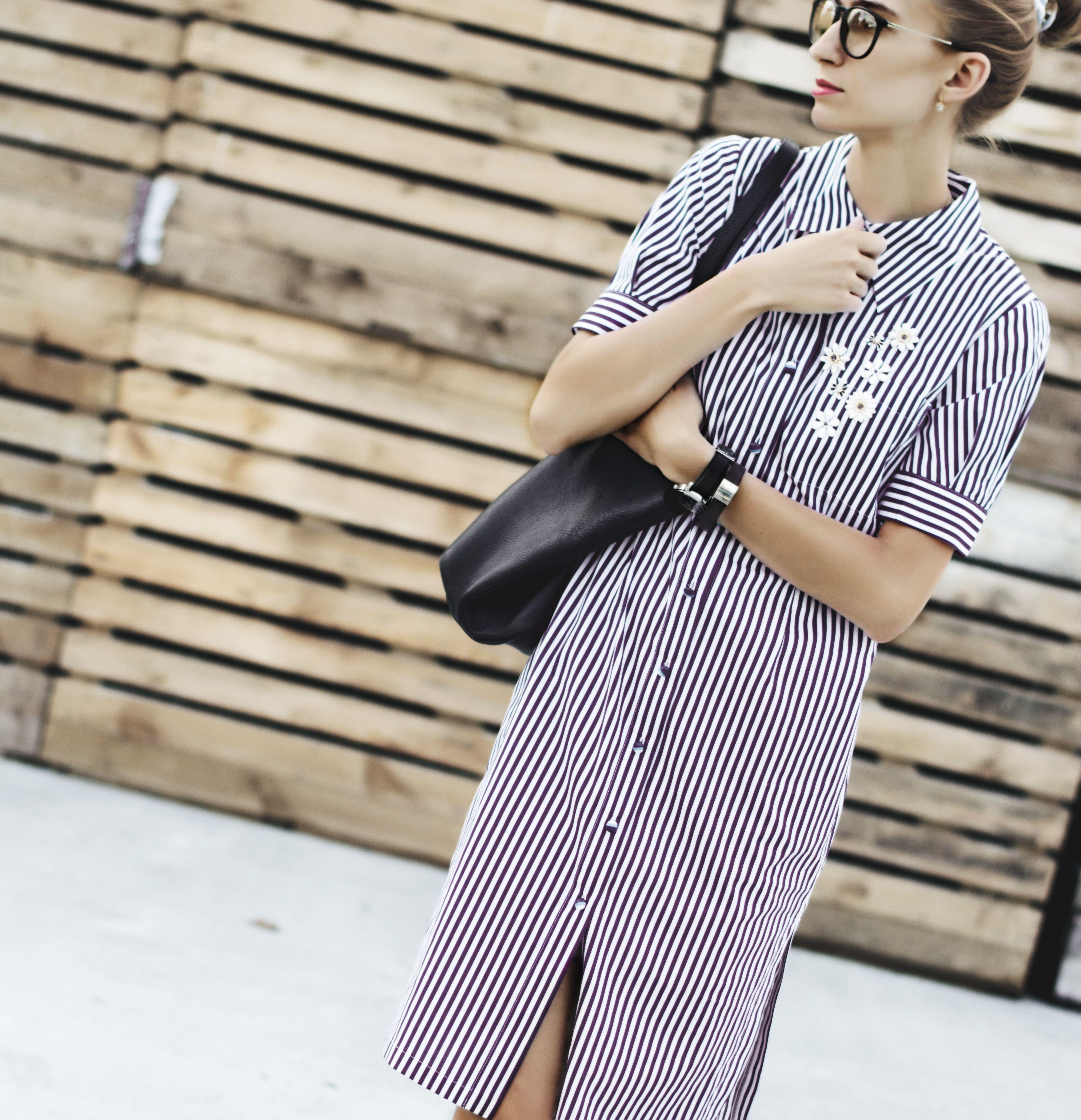08d4556d6fce Стильное платье-рубашка в полоску от Devita   ♥ Striped - Forever ...