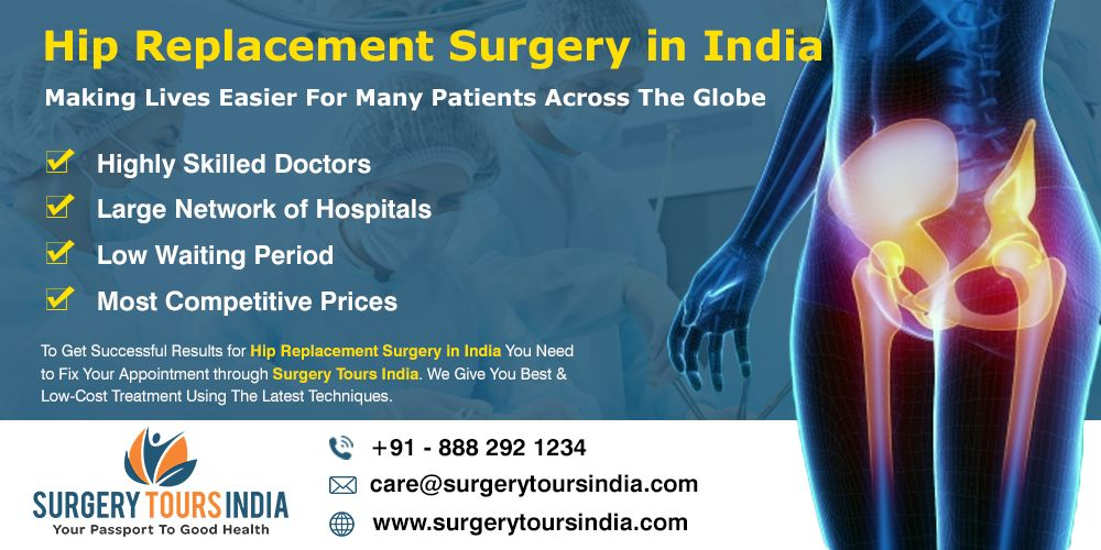 total hip replacement surgery in India, hip replacement