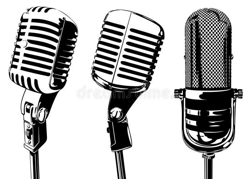 Microphone Old Microphone Vector Illustration Isolated Sponsored Microphone Microphone Vector Isolated Old Microphone Microphone Vintage Microphone