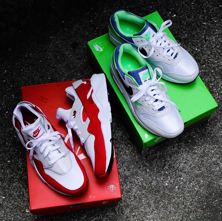 Nike Flips Colors On The Air Max 1 And Air Huarache For The Dna Ch 1 Pack Nike Sneakers Air Max 1